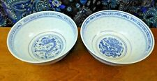 Set of 2 Chinese Hand Painted Porcelain Bowls