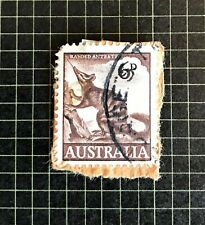 Pre-Decimal Australian Postage Stamp 1960 Banded Ant Eater 6d Used Post Marked