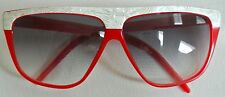 vtg 80s LAURA BIAGOTTI red Oxsol Sunglasses Mother of Pearl P-766 Italy