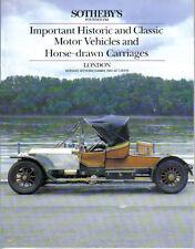 Sothebys 12/84 Horse Drawn Bentley Squire Alvis Invicta Mercedes Benz Peugeot +
