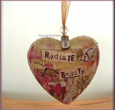RADIATE BEAUTY HEART ORNAMENT BY KELLY RAE ROBERTS FREE U.S. SHIPPING