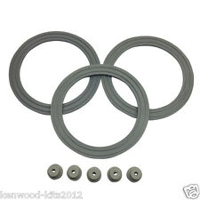 KENWOOD CHEF LIQUIDISER RUBBER BASE SEAL 3 PACK KW650544 & 5 RUBBER FEET