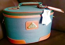 "Large Ladies ""Constellation"" Vanity Case With Gold Plated Lock, Keys & Strap"