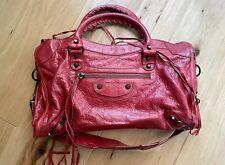 Balenciaga City Bag Red with a Free