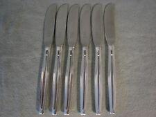 Wellner  6 Messer  21,5 cm 90er Silberauflage