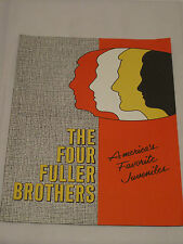 THE FOUR FULLER BROTHERS   Vintage Promotional Flyer   60s/70s Pop Vocal Group