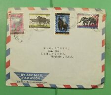 Dr Who Burundi Ovpt Mixed Frank Combo Airmail To Usa f83600