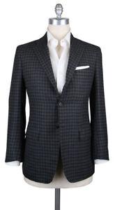 New Kiton Gray Cashmere Check Sportcoat - 46/56 - (201803054)