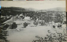 c1930s A view from the Pinnacle at Chester Vermont VT postcard view