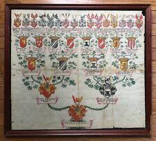 Original- Illuminated Heraldry Coat of Arms German Noble Family Manuscript c1678