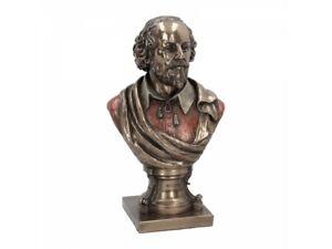 WILLIAM SHAKESPEARE 23cm Nemesis Now Veronese Bust Statue Poet Bronzed FREE P+P