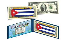 CUBA - Flags of the World Genuine Legal Tender U.S. $2 Bill Currency
