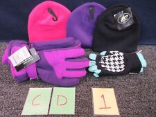 New listing 5 Girls Teen Hat Gloves Cold Weather Accessories Thinsulate Knit Purple Pink