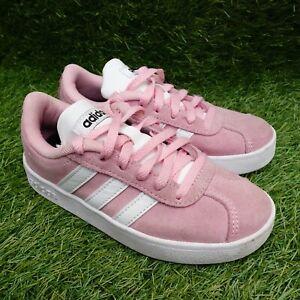 Adidas VL Court 2.0 Shoes Trainers Pink Children's Junior Girls UK Size 10K
