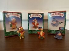 Hallmark Merry Miniatures Christmas Winnie the Pooh, Tigger,& Eore