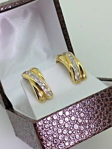 18K Yellow Gold & 1.80ct Diamond Earrings + Free Shipping! Valued at $9,000.