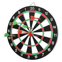 "Large 14"" Dart Board Set Dartboard Family Party Game Fun With 6 Darts UK Seller"