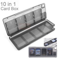 BLACK 10 in 1 PS Vita PSV Game Memory Card Storage Box Case