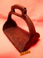 1700's RARE Fancy Antique & Unusual IRON WIDE BOTTOM Hand worked Saddle Stirrup
