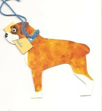 LOT OF 6 BOXER DOG PUPPY GIFT TAGS Tag card Cards with STRING