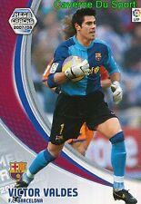 056 VICTOR VALDES ESPANA FC.BARCELONA TARJETA CARD MEGA CRACKS LIGA 2008 PANINI
