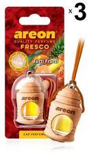 x 3 Areon Fresco Tutti Frutti COCHE AROMA PERFUME Ambientador perfume aroma