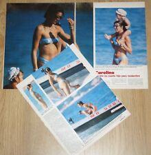 CAROLINE MONACO IN BIKINI 3 page 1988 magazine article clippings sexy photos