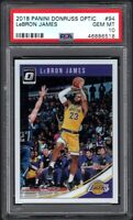 2018-19 Panini Donruss Optic #94 LeBRON JAMES Los Angeles Lakers PSA 10 GEM MINT