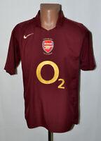 ARSENAL LONDON 2005/2006 HIGHBURY HOME FOOTBALL SHIRT NIKE SIZE M ADULT