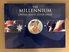 2000 The Millennium America Eagle Uncirculated 1 Ounce Silver Color Coin W / COA