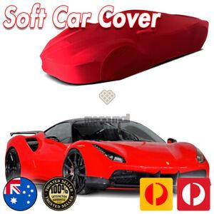 Classic Car Cover Ultra For Ferrari 458 488 California All RED Soft Spandex