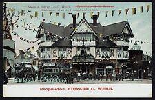c1910 Swan & Sugar Loaf Hotel South Croydon Surrey Postcard B125