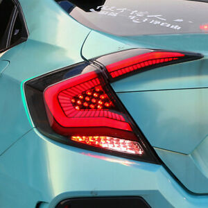Dark LED Taillights For Honda Civic 10th 2016-2020 Sequential Signal Replace OEM