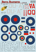 Print Scale 48-062 - 1/48 Decal for Bristol Beaufighter