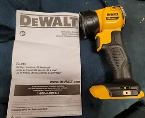NEW DeWalt 20V Max LED Work Light Model# DCL040 tool only FREE shipping
