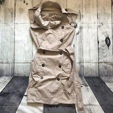 All Saints Anais Beige Stone Trench Dress Military Army Asymmetric Cowl Neck 8