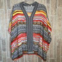 CATO Womens Plus Size 18/20W 3/4 Sleeve Shirt Geometric Print Top