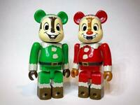 Chip and Dale 100% Bearbrick Christmas Party Unbreakable Medicom Be@rBrick Rare