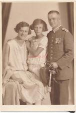 Foto, Studioportrait Soldat und Familie, K.Plathe Leipzig (N)19477