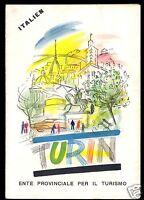 Stadtplan, Turin, Torino, Innenstadtplan, um 1975