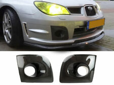 Lower Bumper Carbon Fiber Fog Light Cover For Subaru Impreza WRX STi