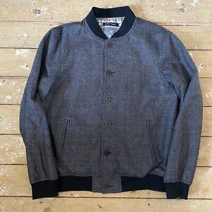Bolongaro Trevor Jacket XL Wool Bomber Grey Check Made In England