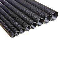 1-4pcs 11mm x 12mm OD x 500mm 100/% Roll Wrapped Carbon Fiber Tube 3K Glossy12*11