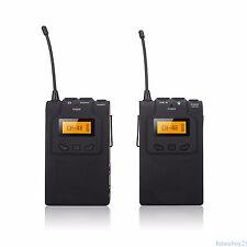 BOYA BY-WM6 UHF Wireless Microphone System Lavalier +Holder Clip for DSLR Camera
