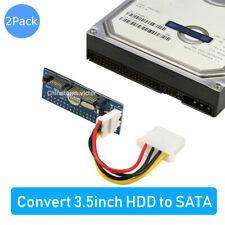 "2pcs IDE to SATA,3.5"" IDE HDD Hard Drive to SATA Converter Adapter fr 3.5in PATA"