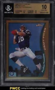 1998 Topps Chrome Refractor Peyton Manning ROOKIE RC #165 BGS 10 PRISTINE