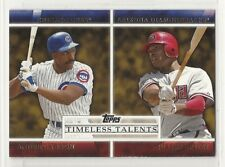 2012 Topps Timeless Talents - #TT-16 - Andre Dawson - Chicago Cubs