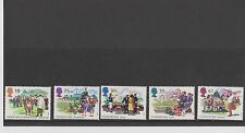 Set 5 GB Great Britain Stamps Summertime  1994 Mint in folder