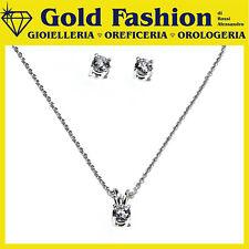 Parure in argento tit- 925 - collana e orecchini con zirconia swarovski