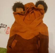 NWT Star Wars Pet Fans Dog Ewok Hoodie Sweater Costume Halloween Size Large